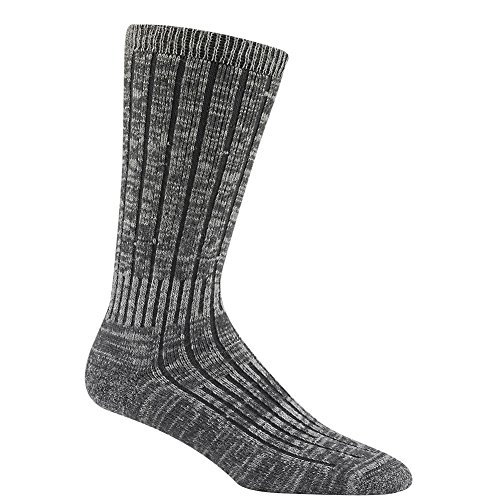 Wigwam Men's Merino/Silk Hiker Heavyweight Crew Socks, Charc