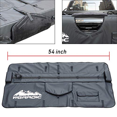 54″ Truck Tailgate Pad Shuttle Pad 5 Bikes 350Z Vinyl for Middle & Large Size Pickup Truck with Tool Bag