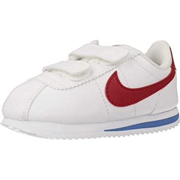 0865e146b6f412 Nike Boy's Cortez Basic SL Toddler Shoe, White/Varsity Red/Varsity Royal/
