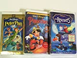peter pan disney vhs - 3 - Walt Disney's VHS Tapes Peter Pan, Pinocchio, Rescuers