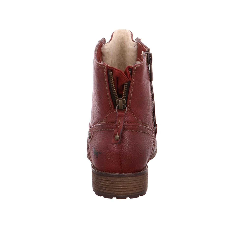 Damen 1265601 Rote Lederimitat Winterboots Größe 41 Rot Rot Mustang ... 8681737680