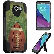 For Galaxy J3 Emerge / J3 Prime / J3 Luna Pro / J3 Mission / J3 Eclipse / J3 2017 / Amp Prime 2 / Express Prime 2 / Sol 2 Case, DuroCase Kickstand Bumper Case - (Football)