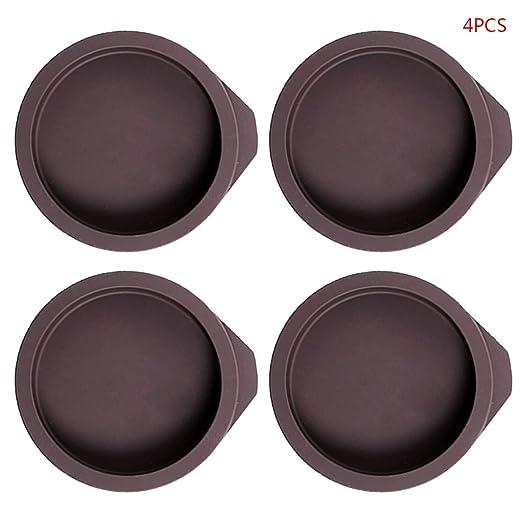 R-WEICHONG Bandeja de silicona para hornear tartas, 4 unidades ...