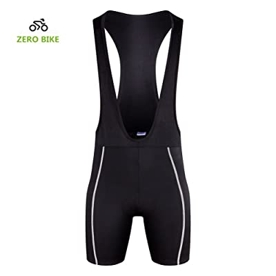 ZEROBIKE Men's Short 3D Padded Cycling Bib Compression Short Bicycle Bike Bib-pants Quick-dry Polyester Braces Tights