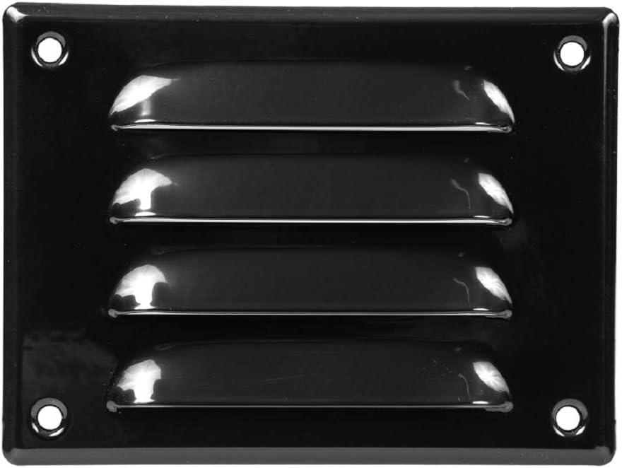 Rejilla de ventilación con protección contra insectos, 140 x 105 mm, color negro