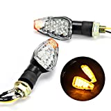 INNOGLOW Motorcycle Turn Signals 2pcs LED Bulb Indicators Motorbike Blinkers Amber Lamp Lights Fits Choppers, Cruisers, Touring Motorbike