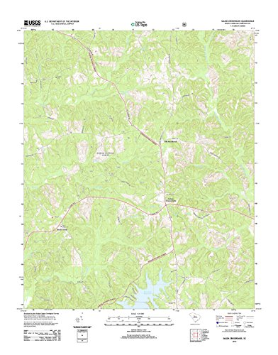 Salem Cross - Topographic Map Poster - SALEM CROSSROADS, SC TNM GEOPDF 7.5X7.5 GRID 24000-SCALE TM 2011 30