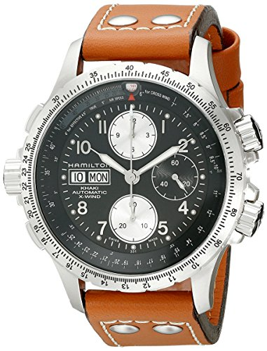 Hamilton Men's H77616533 Khaki ; Dial color - Black X Chronograph Watch
