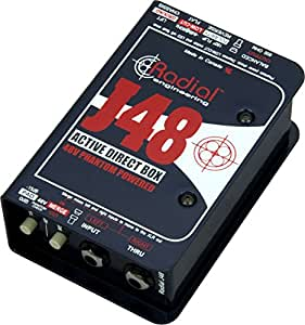 Radial J48 MK2 48V Phantom Power Active Direct Box