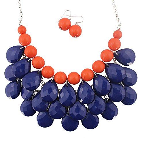 Bubble Necklace Bubble Jewelry Sets Bib Bubble Statement Necklace for Women (B-0033) -