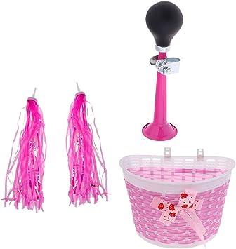 Bicycle Bike Streamer Tricycle Kids Girl Handlebar Tassel Air Horn Hooter Basket
