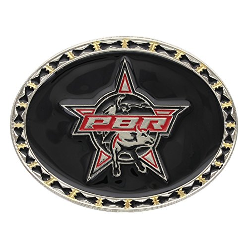 PBR Rodeo Barbed Wire Trim Belt Buckle By Montana Silvers...