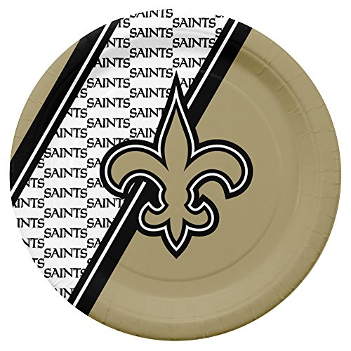 (NFL New Orleans Saints Disposable Paper Plates, Pack of)