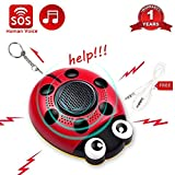 Personal Alarm Keychain 130db Self Defense Human Voice SOS Emergency Security Alarm USB Rechargeable Built-in Speaker Strobe Light and Flashlight with Wrist Strap for Elder Kids Women Adventurer Night Review