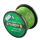 FyshFlyer® STURDY 4X-PE Braided Fishing Line - 500M(547 Yard) Premium Quality; Super Power; Cut Resistant - Green