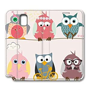 JHFHGVH Leather Case for Samsung galaxy Note 3, Funny Owls Stylish Durable Leather Case for Samsung galaxy Note 3