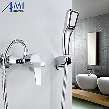 Generic Faucet Only Simple Set Bathroom Shower Faucets Bathtub Faucet Mixer Tap With Hand Shower Head Shower Faucet Sets Amazon In Home Kitchen