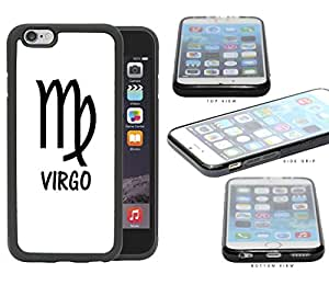 Virgo Horoscope Sign Symbol Black and White Rubber Silicone TPU Cell Phone Case Apple iPhone 6