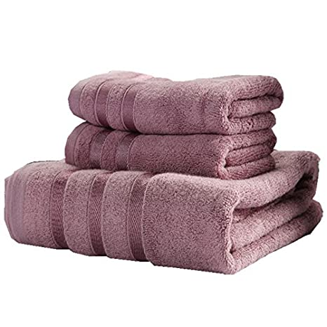 Zhiyuan Toalla de baño y toalla de mano en fibra de bambú: Amazon.es: Hogar