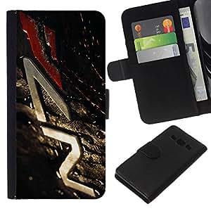 // PHONE CASE GIFT // Moda Estuche Funda de Cuero Billetera Tarjeta de crédito dinero bolsa Cubierta de proteccion Caso Samsung Galaxy A3 / N7 Mass Eff3Ct /