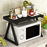Rack shelf Kitchen Metal Shelves Microwave Oven Rack Seasoning Rack Storage Rack ( Color : White )