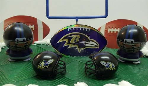 Marvelous Nfl Football Baltimore Ravens Birthday Cake Topper Set Featuring Birthday Cards Printable Opercafe Filternl