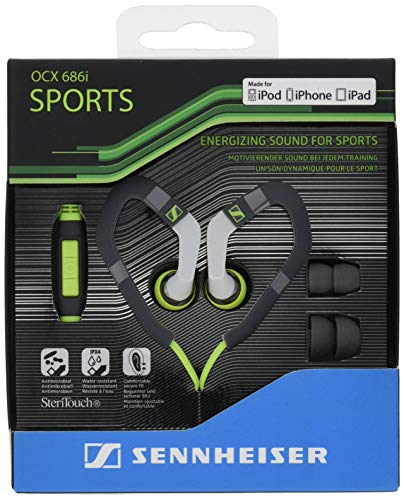 Sennheiser OCX 686i Sports in-Ear Headphones - Green/Grey