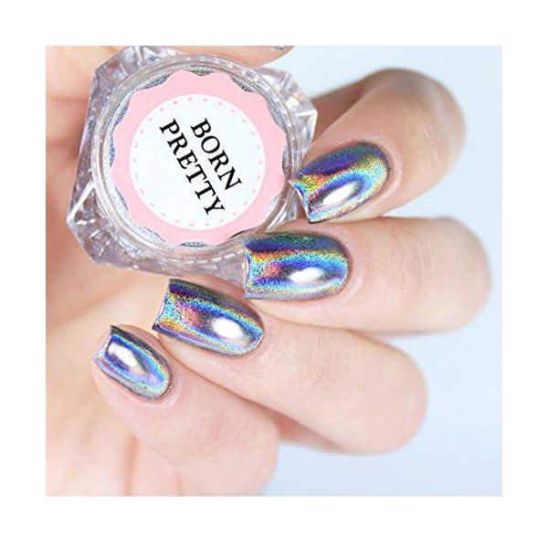 BORN PRETTY 9 Boxes Pearl Powder Nail Mirror Effect Colorful Nails Art Glitter Iridescent Metallic Manicuring Pigment 1G 5