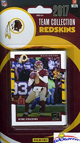Washington Redskins 2017 Donruss NFL Football Factory Sealed Limited Edition 15 Card Complete Team Set with Kirk Cousins, Terrelle Pryor, Joe Theismann & Many More! Shipped in Bubble Mailer! WOWZZER!