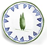 Tuscan Dinnerware Set – Olive Green Dinner Plate from the Toscana Collection – Rustic Tuscan Kitchen Décor, Country Rustic Dinnerware Hand Painted & Handmade in Italy, Tuscan Plate