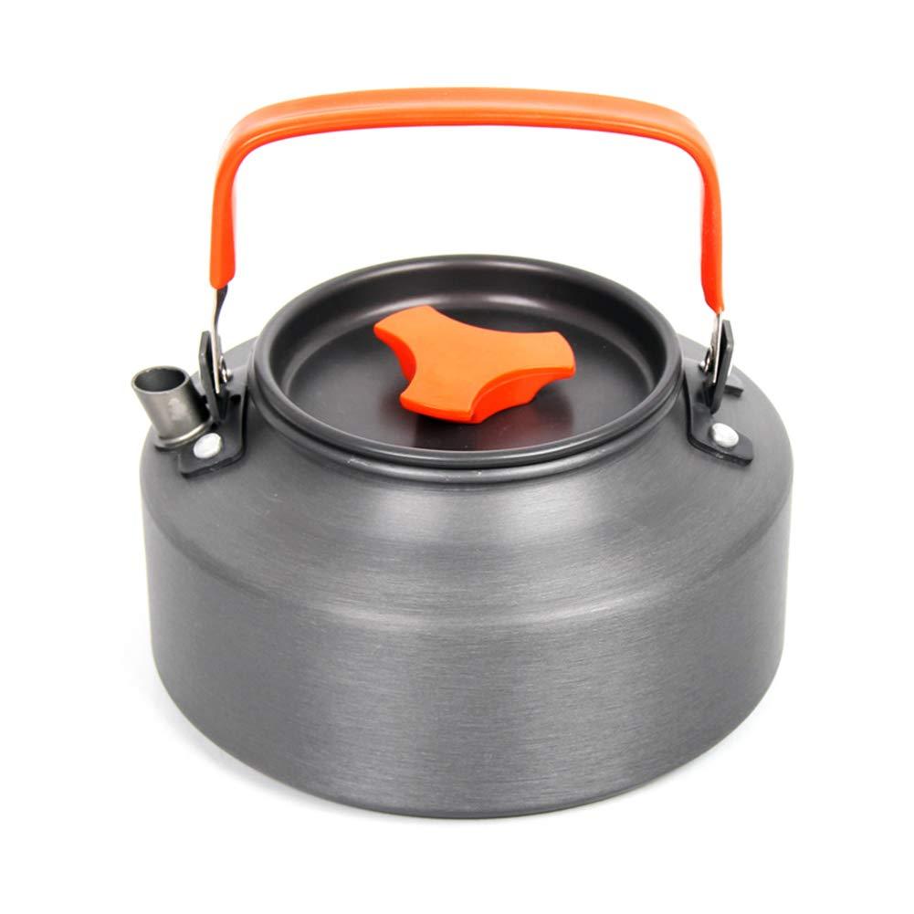 WYX Pote del café de la Caldera Que acampa 1.1L, Tetera Que acampa de Aluminio anodizada compacta y Ligera, Cookware al Aire Libre para la Comida campestre de la Barbacoa