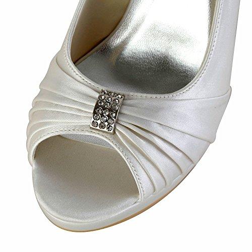 Minitoo ivory Heel Scarpe 10cm Beige 35 Tacco Eu Col Donna qxSRqrC