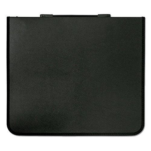 Prat Start 1 Presentation Case, Buffalo-Grain Cover, Multi-Ring Binder with 10 Sheet Protectors, Spine-Mounted Handle, 17 X 14 inches, Black (S1-2171) ()