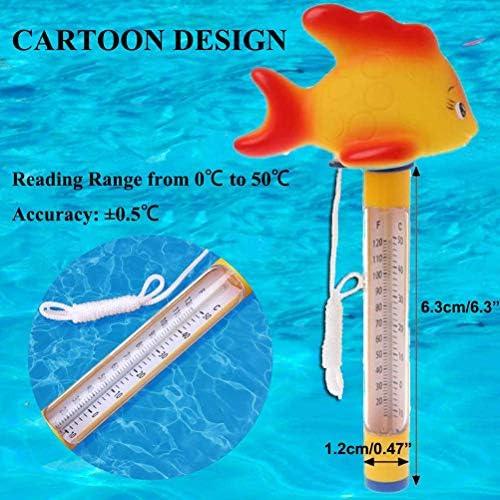 Akemaio Mignon Piscine Flottante Thermomètre Cartoon Eau Thermomètre pour extérieur/intérieur Piscines, Eau du Bain, spas, Hot Tubs