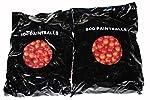 XBALL INFERNO Paintballs - Ruby / Magma Shell - BRIGHT ORANGE FILL