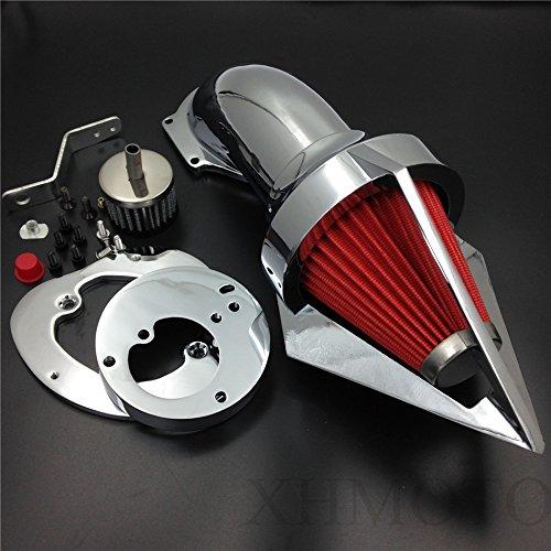 Triangle Spike Air Cleaner Intake Filter Kit For Honda Vtx1300 Vtx 1300 1986-2012 Chrome (Vtx 1300 Air Cleaner)