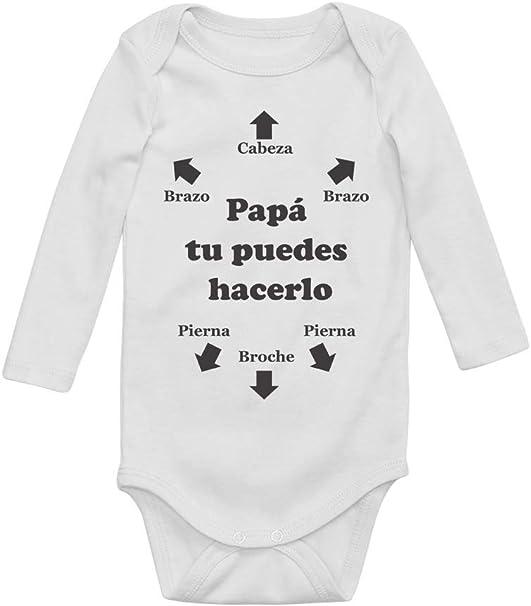 Regalos Originales para Padres Primerizos Pap/á Tu Puedes Hacerlo Body de Manga Larga para Beb/é