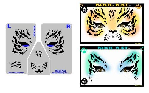 Face Painting Stencil - StencilEyes Kool Kat - Tiger/Cat ()