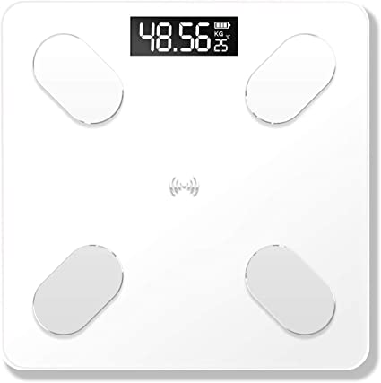 Digital Body Fat Electronic Scale Measuring Weight Usb Rechargeable Smart Scales 59 Item Data Bt Connection Voice Broadcast,Rose Gold
