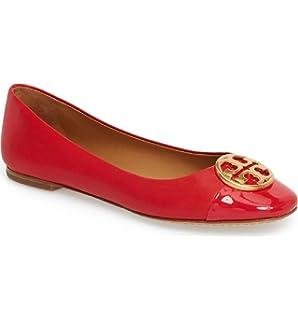 533b84f5f182 Tory Burch Chelsea Cap-Toe Ballet Flat Poppy Orange