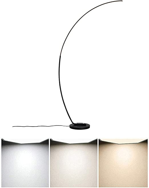 lampadaire cercle led sur pied
