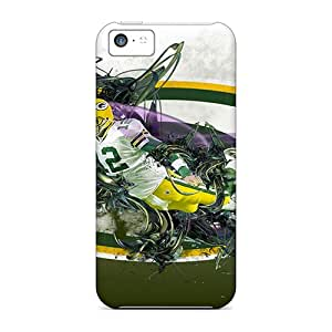 Fashion Tpu Case For Iphone 5c- Green Bay Packers Defender Case Cover