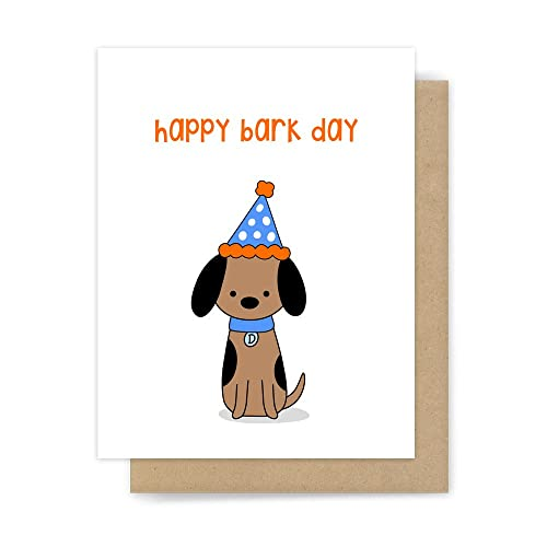 Image Unavailable Not Available For Color Happy Birthday Card Funny Cute Dog Pun Handmade Greeting