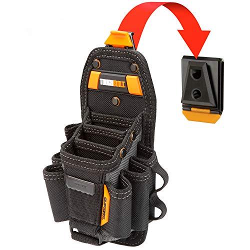 ToughBuilt - Technician 10 Pocket Pouch (Medium) | 14 Pockets & Loop, 3 Adjustable Holster, 6 Snug-fit Screwdrivers, Accessories, Secure Multi-Tool Holder (ClipTech Hub & Belts) (TB-CT-36-M10)