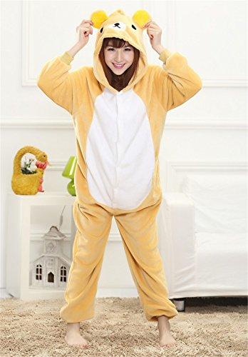 Halloween Costume Pigiami Intero Camicie Anime Di Sleepwear Interi Giallo Da Pigiama Party Donna Animali Orso Carnevale Dabag Cosplay Notte Ragazzi qzwOBB