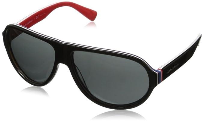 1cf5e9ef58d0 Dolce & Gabbana Men's DG4204 Sunglasses, (Black Red 276487), One ...