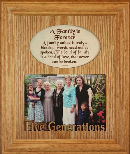 Amazon.com - 8x10 Family Is Forever ~ FIVE GENERATIONS Photo ...
