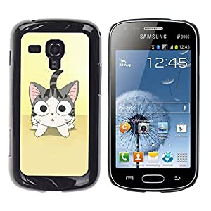 Exotic-Star ( Cute Japanese Anime Cat ) Fundas Cover Cubre Hard Case Cover para Samsung Galaxy S Duos / S7562