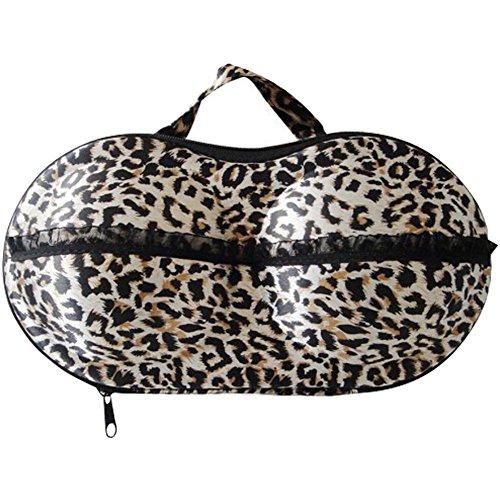 American Trends Bra Case Lingerie Underwear Packing Travel Organizer (FBA) Leopard