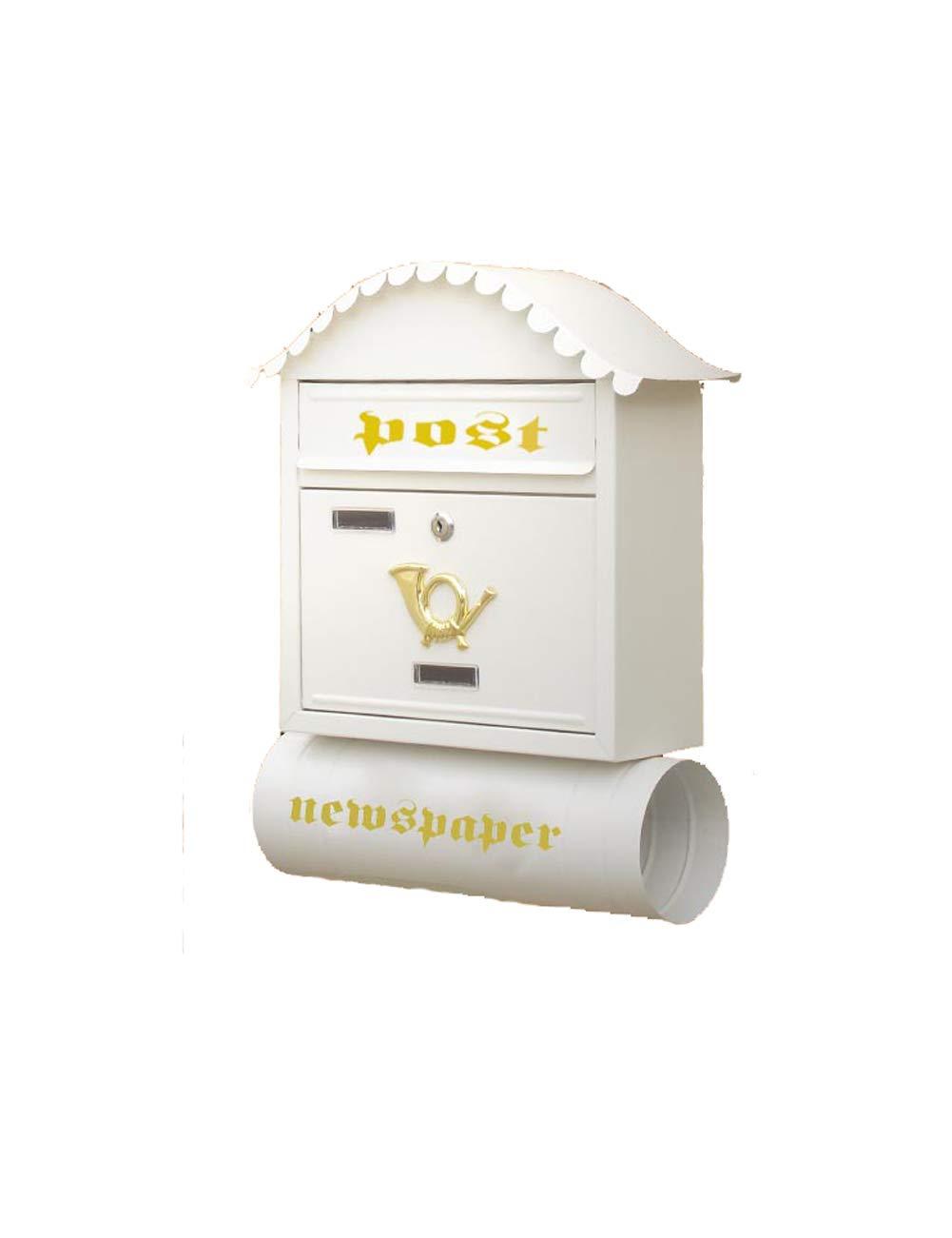 NN 新聞チューブ付きのメールボックスクリエイティブコテージのメールボックスガーデン壁掛けのメールボックス ホームセンター   B07T2MG7R7